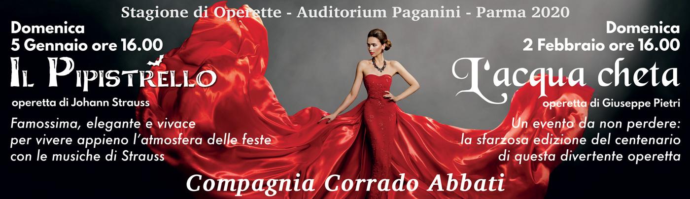 Stagione di Operette – Auditorium Paganini – Parma 2020
